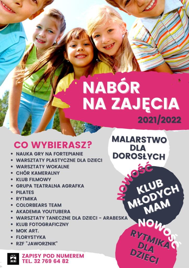 Plakat Nabór na zajęcia 2021-2022